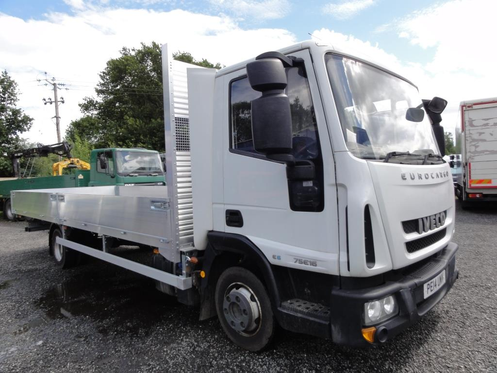 2014 Iveco 75E16 EURO 6 Scaffold Truck with NEW 22ft dropside body -  Malcolm Taylor Commercials