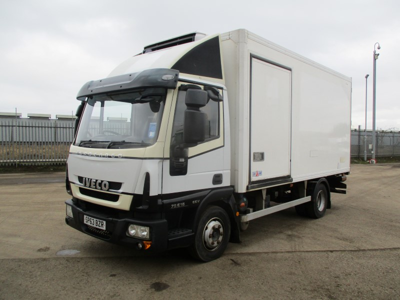 2013 Iveco 75E16 7 5T Fridge with MEAT RAIL & LOADER - Malcolm Taylor  Commercials