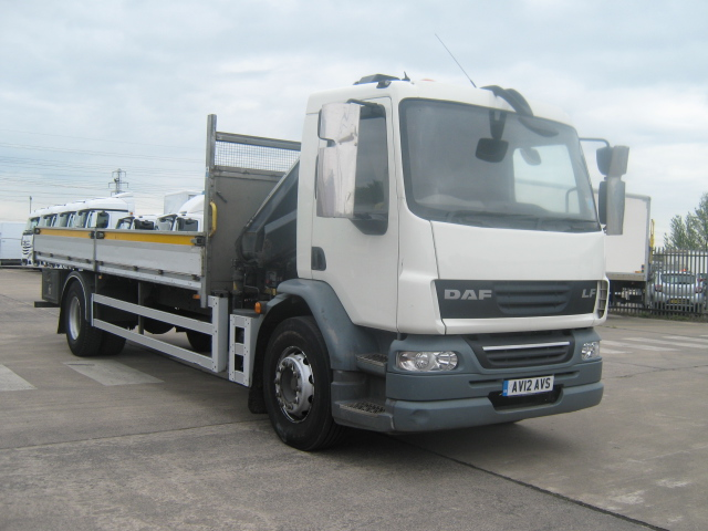 2012 DAF LF55.220 22ft Dropsider with HIAB Crane