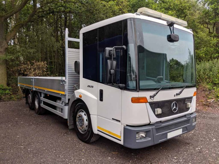 2013 Mercedes ECONIC 26T with NEW Scaffold Dropside Body