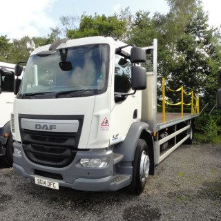 ULEZ EURO 6 – 2014 DAF LF55.250 18T 27ft Flatbed with Tail-Lift