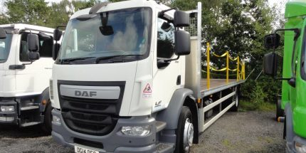 ULEZ EURO 6 - 2014 DAF LF55.250 18T 27ft Flatbed with Tail-Lift