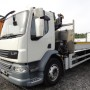 2012 DAF LF55.220 18T Crane with 22ft Dropside Body