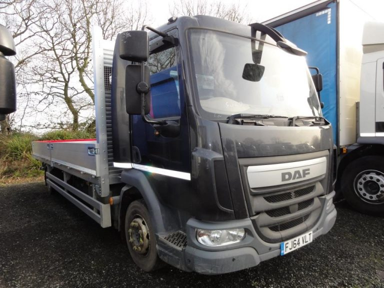 EURO 6 DAF LF45.210 12 Ton with NEW 22ft Dropside Body